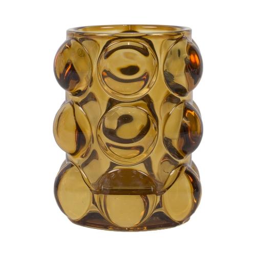 Vase bulle ambre 10