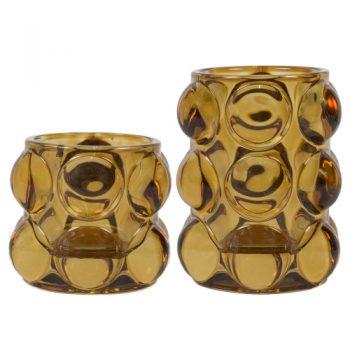Vase bulle ambre