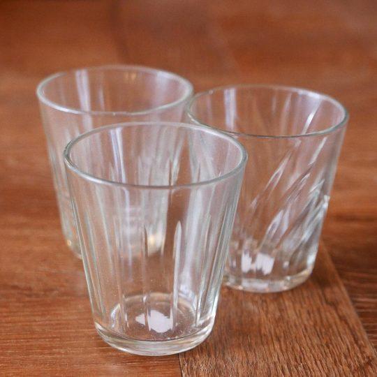 verre à eau ligne droite