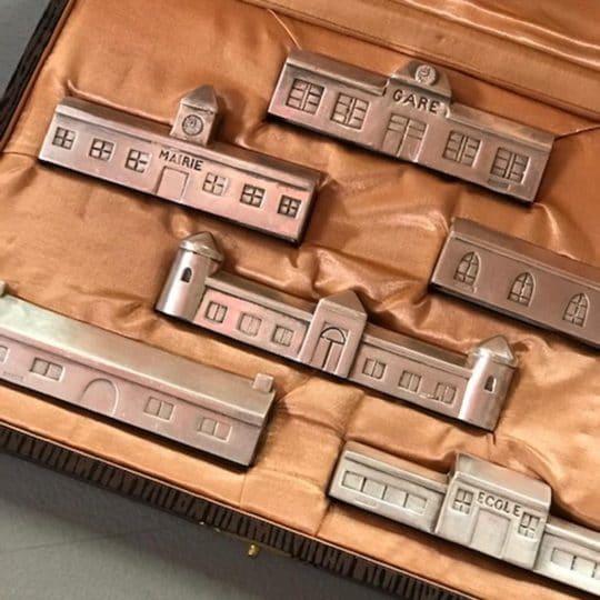 Coffret porte couteaux vintage