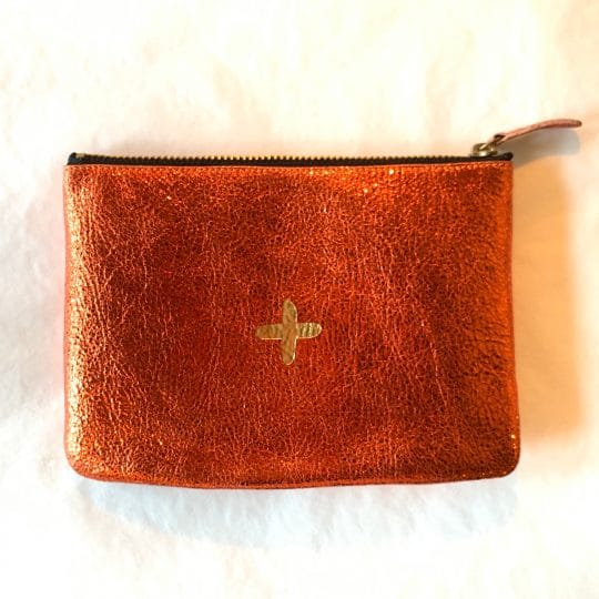 pochette love orange