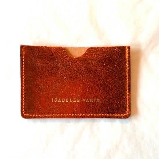 Porte carte credy orange