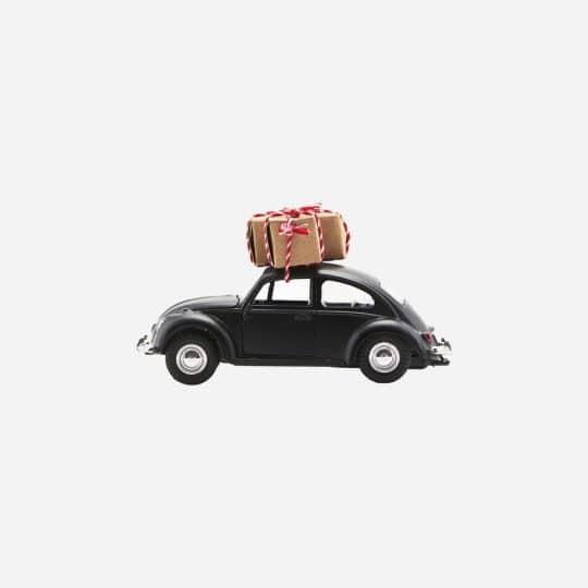 voiture de noël noir