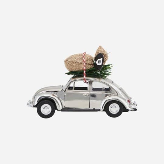 voiture de noël grise