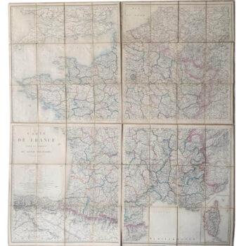 Cartes militaires de la France de 1845