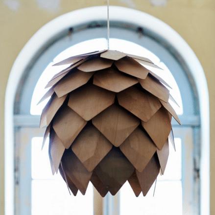plafonnier suspension écailles bois clair olsson & jensen