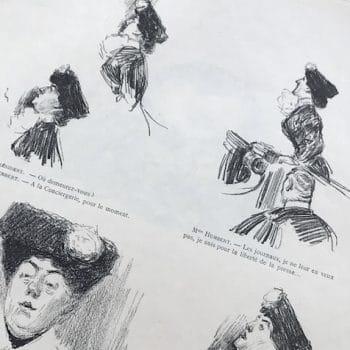 Croquis d'audience de Charles Léandre