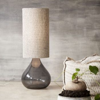 Lampe en verre fumé Big Dark grey