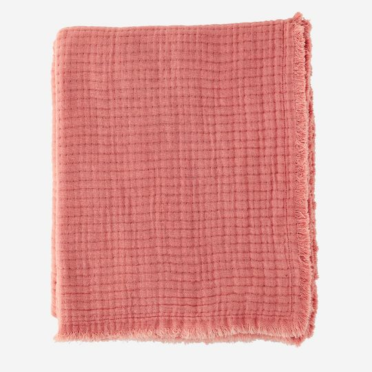 plaid en coton rose madam stoltz