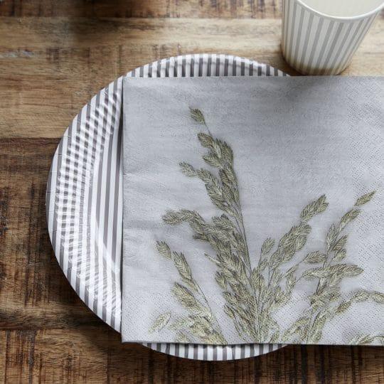 serviettes papier herbes grass house doctor