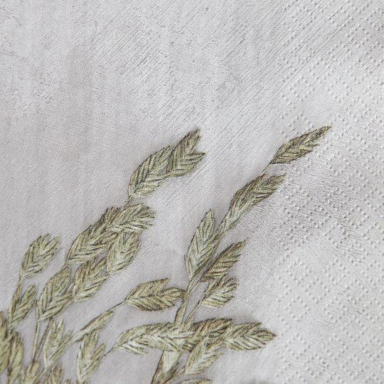 serviettes papier herbe détail house doctor