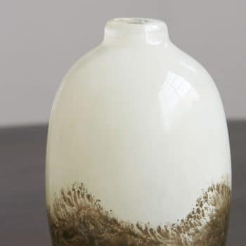 Vase beige métallique Earth
