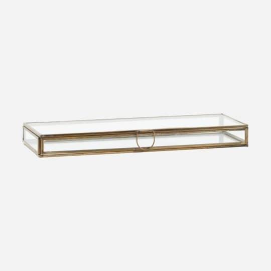 boite verre et métal 31 cm house doctor
