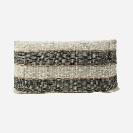 coussin linn rectangle 40x75 gris house doctor