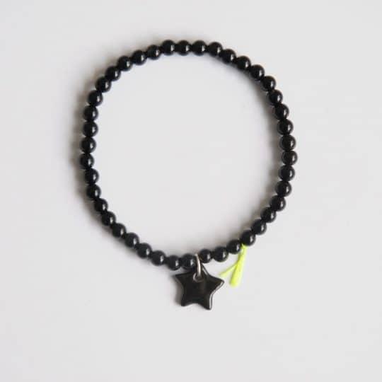 bracelet divine noir porcelaine onix étoile margote céramiste