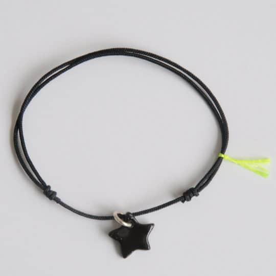 bracelet essentiel margote céramiste noir porcelaine noir étoile