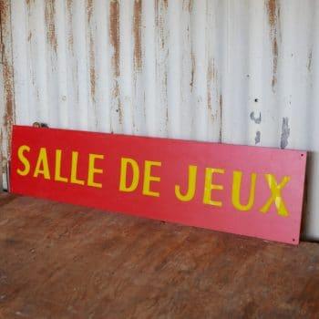 """Pancarte """"Salle de Jeu"""""""