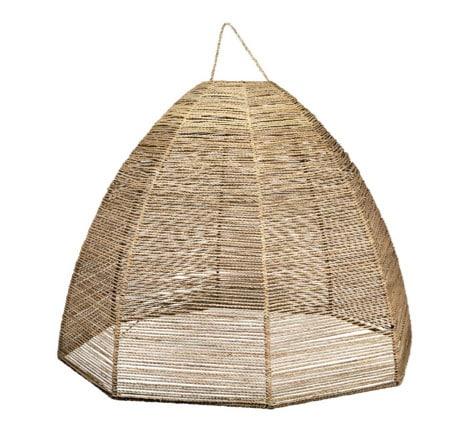 suspension en corde de palmier abat jour doum artisanat marocain