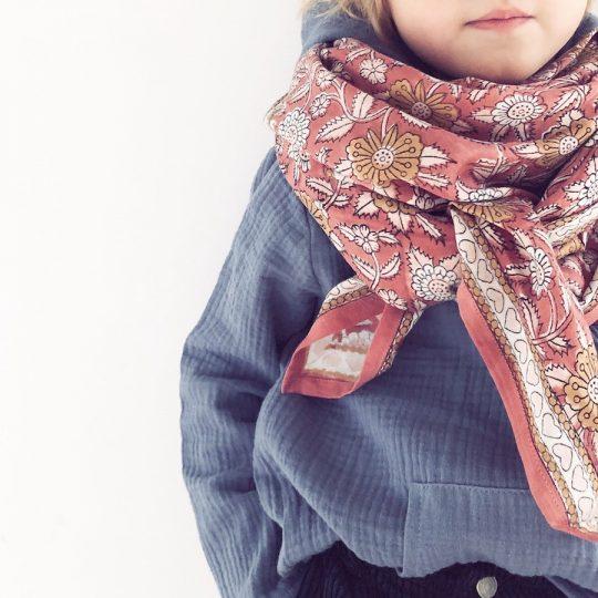 Foulard en coton coeur
