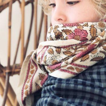 Grand foulard en coton