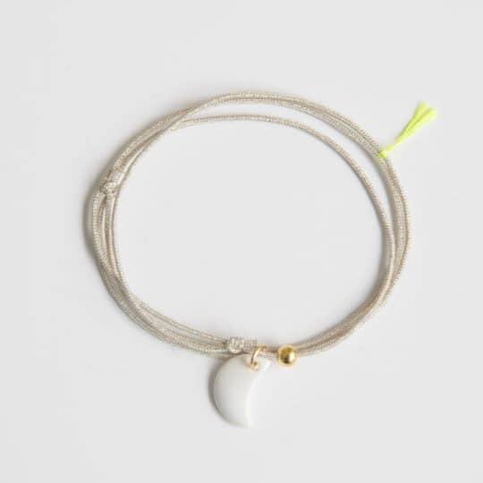 collier triplette écru porcelaine blanc margote céramiste
