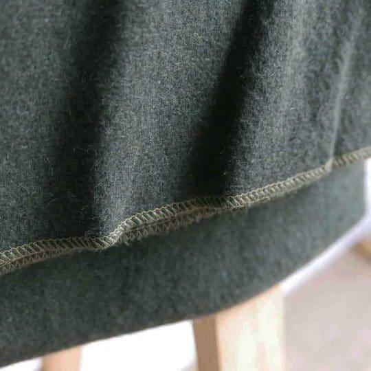 Couverture militaire en laine verte