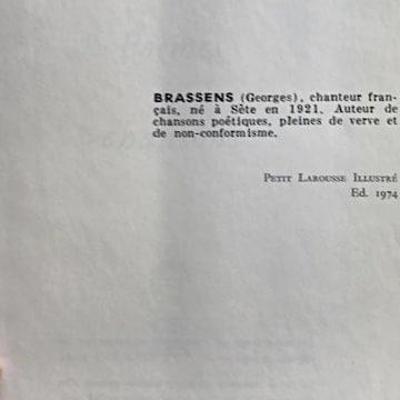 livre georges brassens artiste