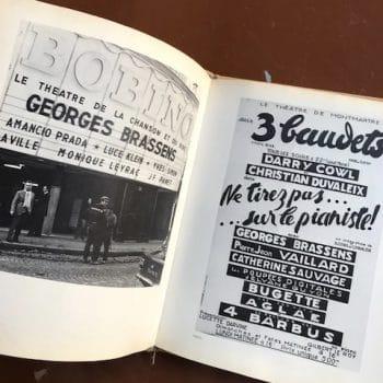 Livre de Georges Brassens et dédicace