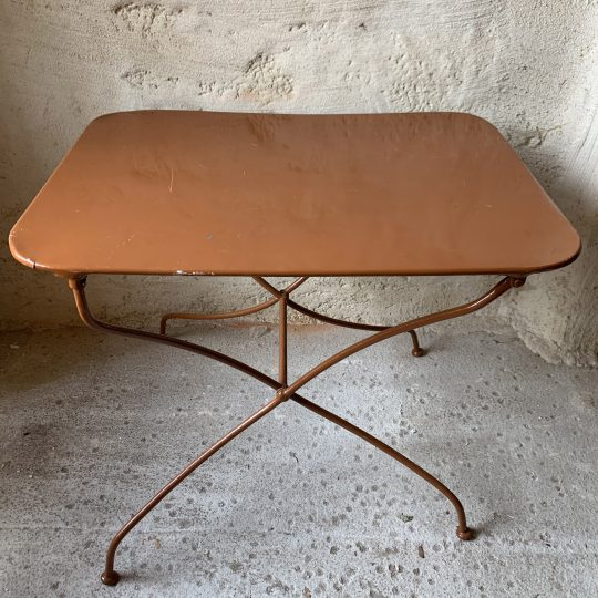 table pliante vintage
