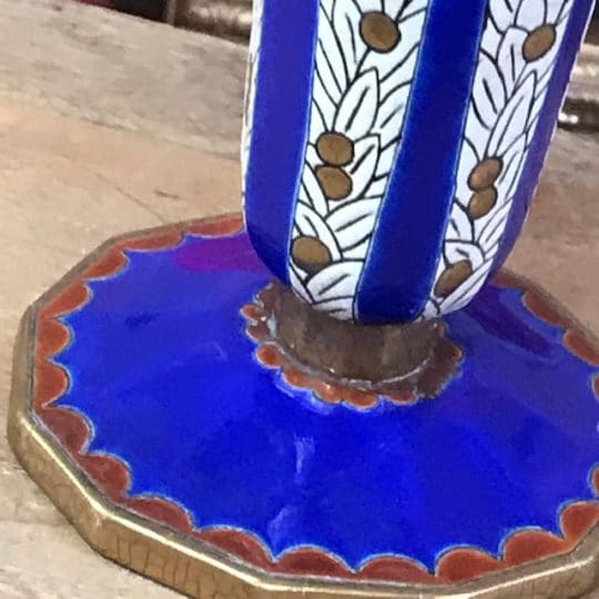 vase Longwy vintage