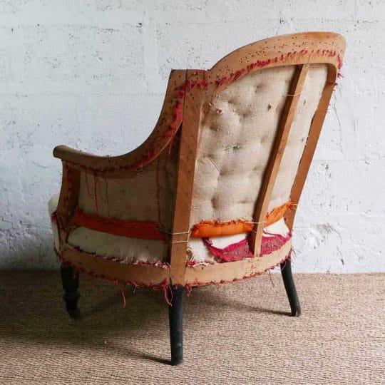 fauteuil crapaud vintage style wabi-sabi