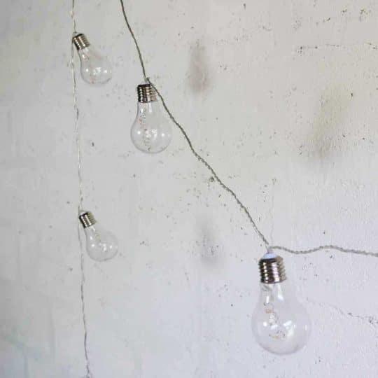 guirlande lumineuse ampoules plastique Fiorira un giardino
