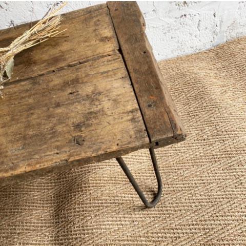 table basse en bois original brocante