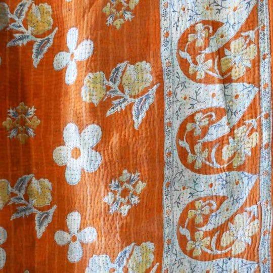 Kantha vintage orange vintage