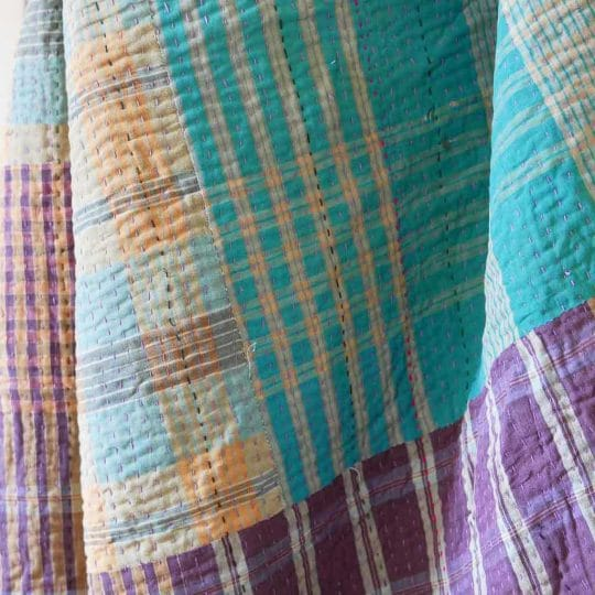 Kantha vintage patchwork indien