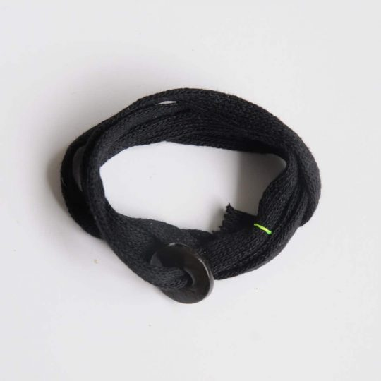 Bracelet en tissu noir pour homme Margote Ceramiste Baroudeur
