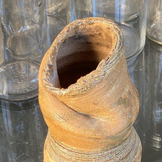 Vase atypique en grès brocante vintage