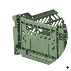 vert amande - caisse de rangement - CHEZlesVOISINS