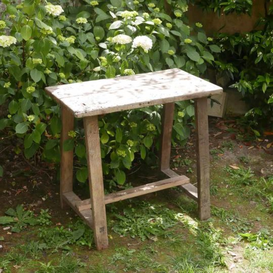 Table établi en bois