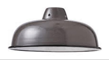 suspension en métal arrondie gris