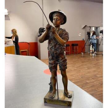 Pêcheur en bronze, Jean Adolphe Lavergne