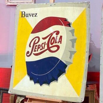 Plaque peinte Pepsi Cola