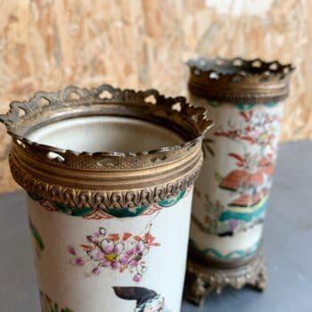 Vases rouleaux asiatiques