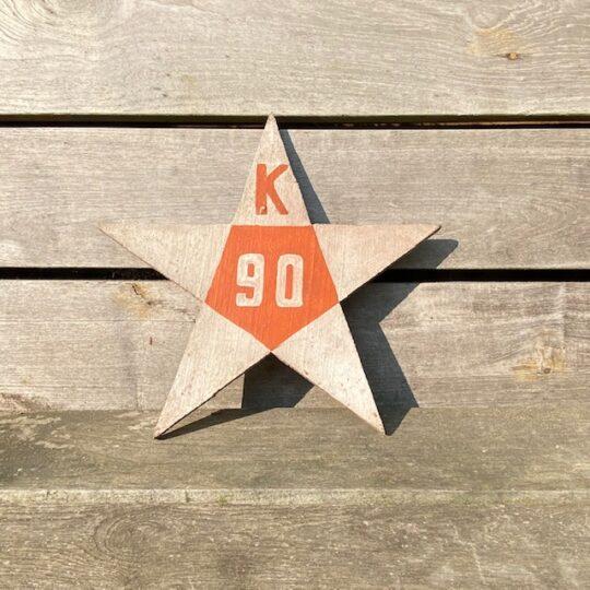 étoile en bois brocante