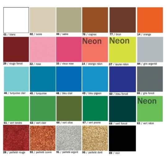couleurs formes émaillées