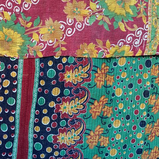 plaid kantha vintage 12