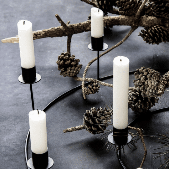Chandelier bougeoir pour 8 bougies