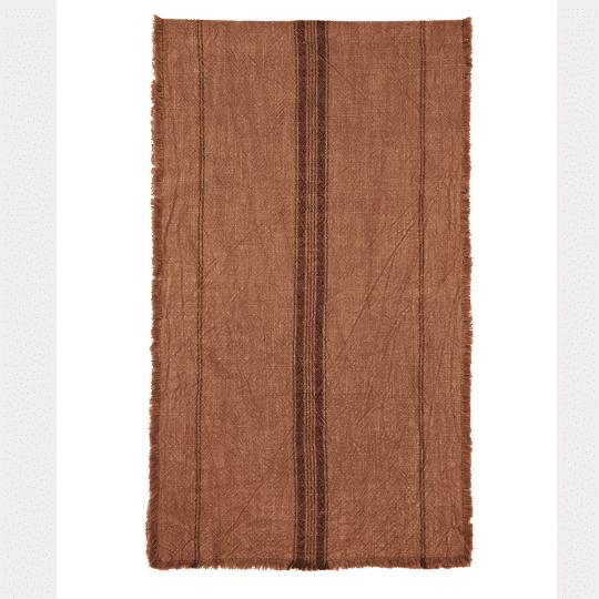 chemin de table en coton Stonewashed