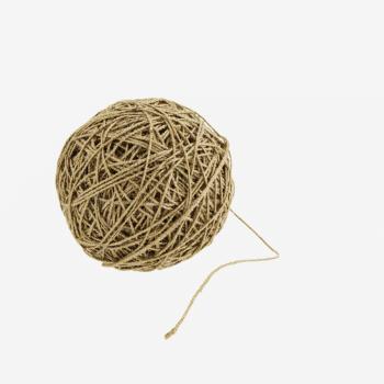 Bobine de fil en jute et lurex