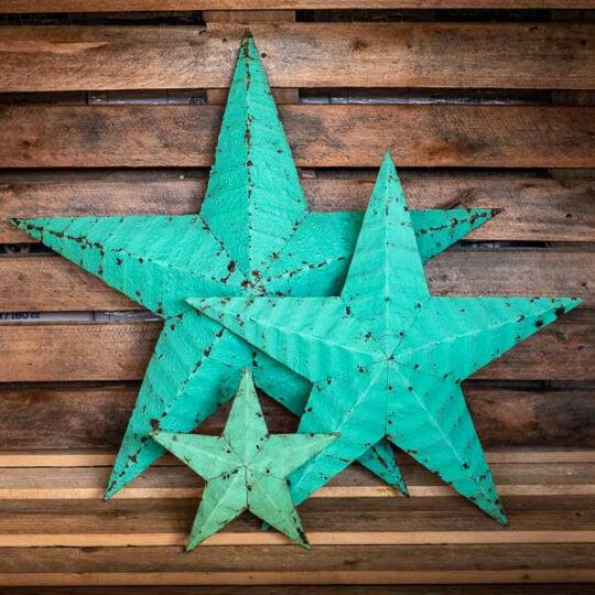 étoile amish vert d'eau